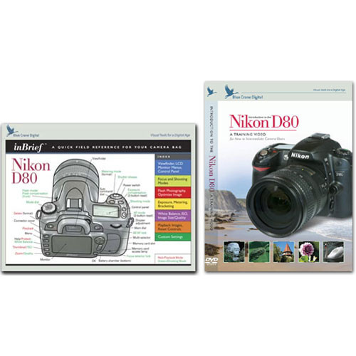 Blue Crane Digital DVD and Guide: Combo Pack for the Nikon D80 Digital SLR Camera