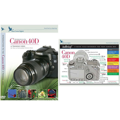 Blue Crane Digital DVD and Guide: Combo Pack for the Canon EOS 40D Digital SLR Camera