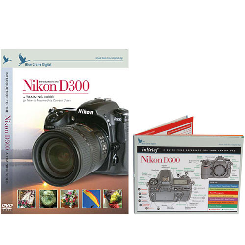 Blue Crane Digital DVD and Guide: Combo Pack for the Nikon D300 Digital SLR Camera