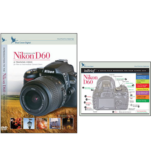 Blue Crane Digital DVD and Quick Reference Card Combo Pack for Nikon D60 DSLR Camera