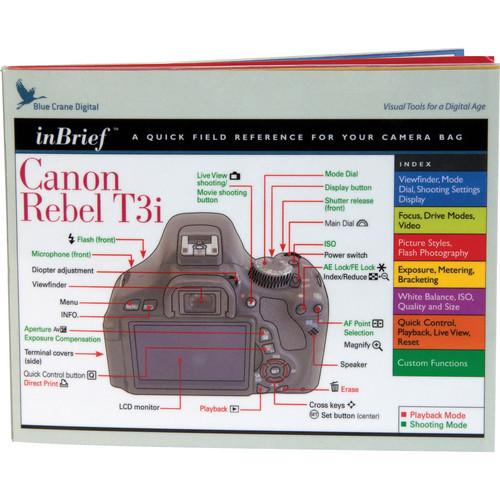 Blue Crane Digital Canon Rebel T3i inBrief Laminated Card