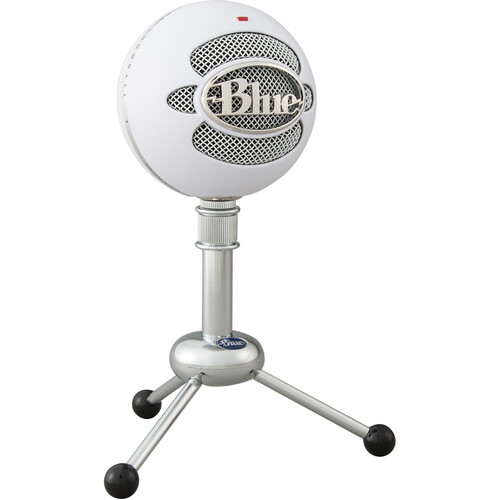 Blue Snowball USB Condenser Microphone with Accessory Pack (White)
