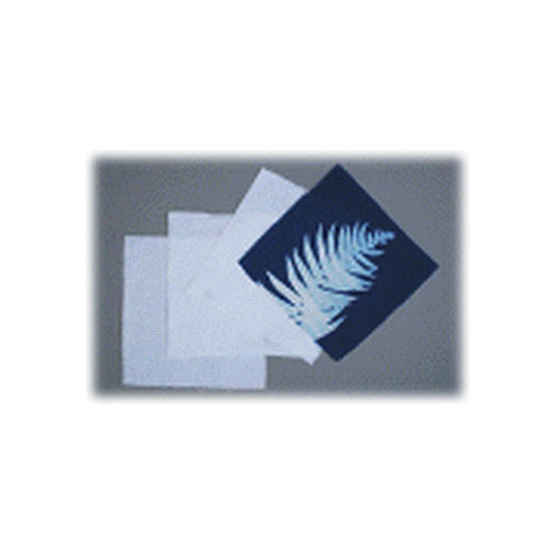 "Blue Sunprints Cyanotype Cotton Squares - 6 x 6"" (50 Pack, White)"