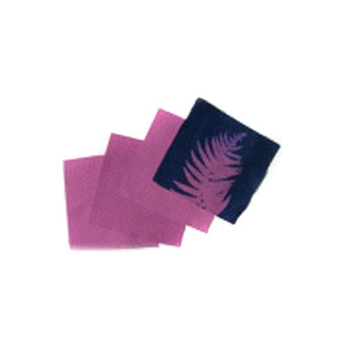"""Blue Sunprints Cyanotype Cotton Squares - 8 x8""""  (25 Pack, Violet)"""