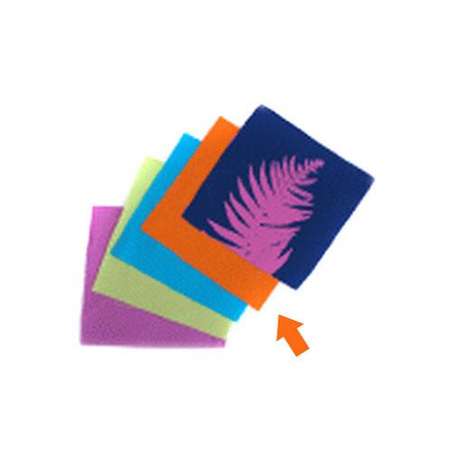 """Blue Sunprints Cyanotype Cotton Squares -  6 x 6"""" (25 Pack, Orange)"""