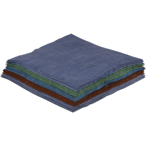 """Cyanotype Store Cyanotype Cotton Squares (6 x 6"""", 25-Pack, Mixed Colors)"""
