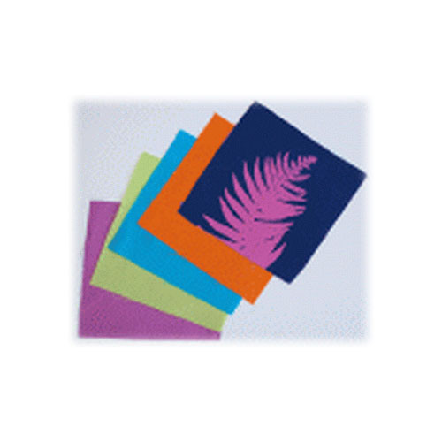 "Blue Sunprints Cyanotype Cotton Squares - 6 x 6"" (50 Pack, Mixed Colors)"