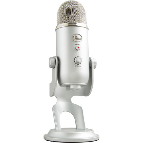 Blue Yeti Usb Microphone Silver Yeti B Amp H Photo Video