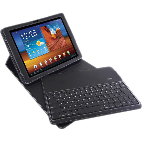 "Blurex D-LUX Folio Case With Wireless Bluetooth Keyboard For Galaxy Tab 10.1"" & Galaxy Tab 2 10.1"""
