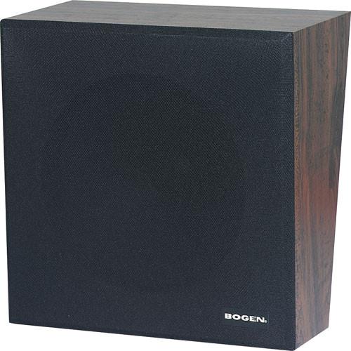 """Bogen Communications ASWB1 8"""" 1W Amplified Speaker in Wall Baffle (Walnut)"""