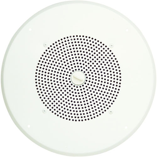 "Bogen Communications ASWG1DK 8"" 1W Amplified Ceiling Speaker with Detachable Volume Knob (Off-White)"