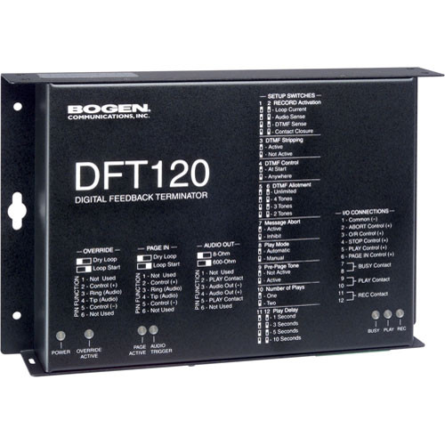 Bogen Communications DFT-120 Digital Paging Feedback Terminator