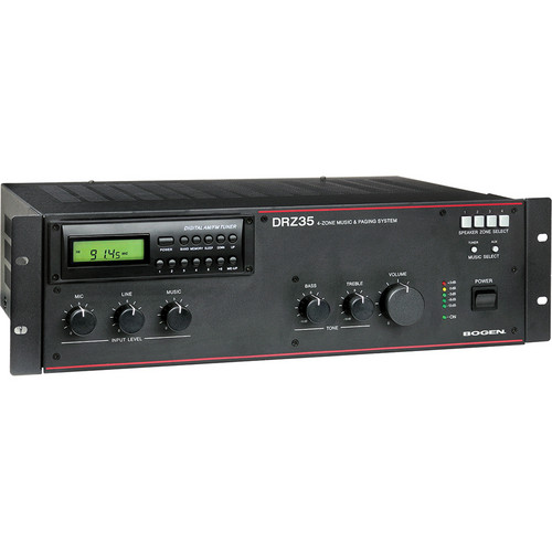 Bogen Communications DRZ35 4-Zone Music & Paging System