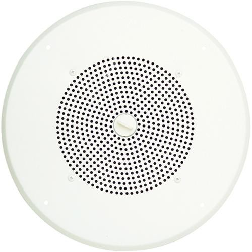 "Bogen Communications Ceiling Speaker Assembly with S810 8"" Cone , Volume Knob & Screw-Terminal Bridge  (Bright White)"