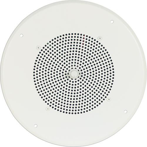 "Bogen Communications Ceiling Speaker Assembly with S810 8"" Cone , Recessed Volume Control & Screw-Terminal Bridge  (Bright White)"