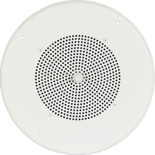 "Bogen Communications Ceiling Speaker Assembly with S810 8"" Cone & Screw-Terminal Bridge  (Bright White)"