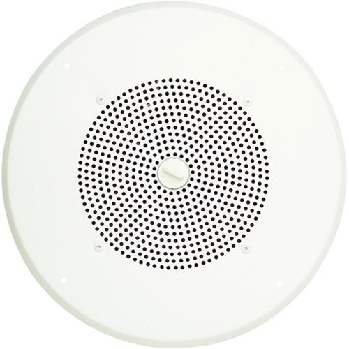 "Bogen Communications Ceiling Speaker Assembly with S86 8"" Cone , Volume Knob & Screw Terminal Bridge (Bright White)"