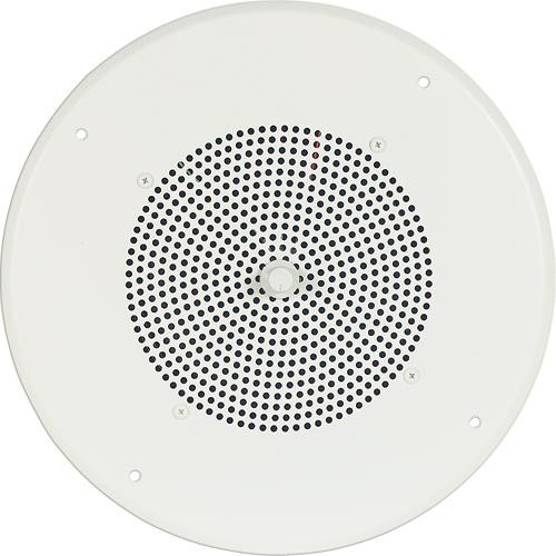 """Bogen Communications Ceiling Speaker Assembly with S86 8"""" Cone , Recessed Volume Control & Screw Terminal Bridge (Bright White)"""
