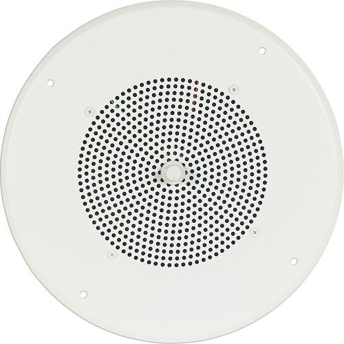 """Bogen Communications Ceiling Speaker Assembly with S86 8"""" Cone & Screw Terminal Bridge (Bright White)"""