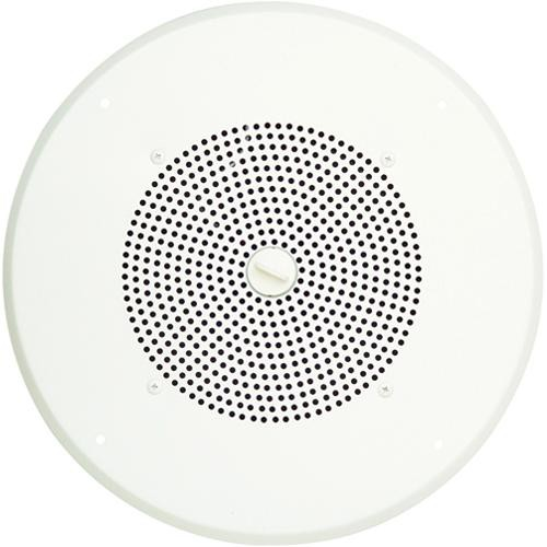 "Bogen Communications Ceiling Speaker Assembly with S86 8"" Cone & Volume Knob (Bright White)"