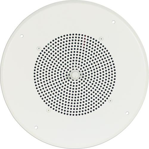 "Bogen Communications Ceiling Speaker Assembly with S86 8"" Cone & Recessed Volume Control (Bright White)"