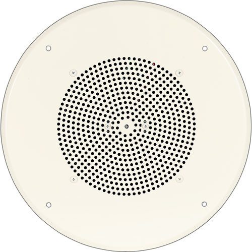 "Bogen Communications Ceiling Speaker Assembly with S86 8"" Cone , Recessed Volume Control & Screw Terminal Bridge (Off-White)"