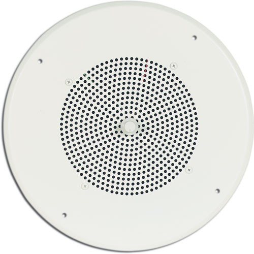 """Bogen Communications Ceiling Speaker Assembly with S86 8"""" Cone & Screw Terminal Bridge (Off White)"""