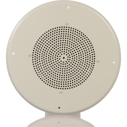 """Bogen Communications Ceiling Speaker Assembly with S86 8"""" Cone (Off-White)"""