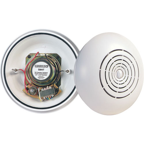 Bogen Communications SM4T Easy Install 4W Surface-Mount Speaker (Off-White)