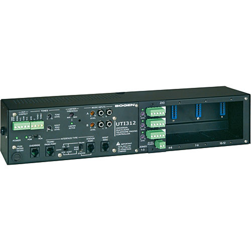 Bogen Communications UTI312 Multi-Zone Paging Controller