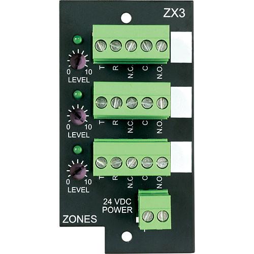 Bogen Communications ZX3 3-Zone Expansion Module for UT1312