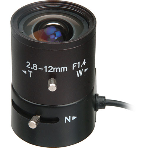 "Bolide Technology Group BP0019-12  1/3"" CS-Mount 2.8-12mm f/1.4 Varifocal Auto Iris Lens"