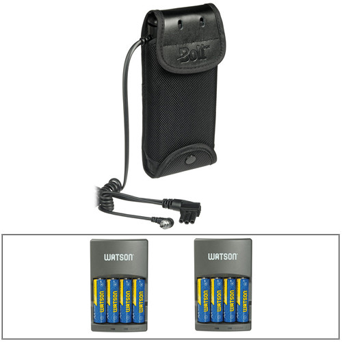 Bolt CBP-N1 Compact Battery Pack f/Select Nikon Flashes w/8 AA NiMH Batteries & (2) Chargers