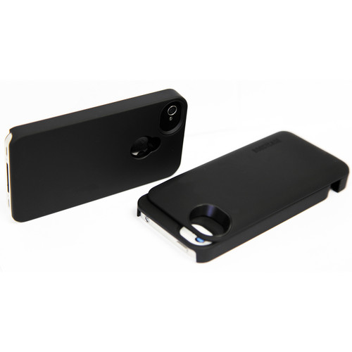 Boostcase Hybrid Snap-on Case / Extended Battery for iPhone 4/4S (Black/Black)
