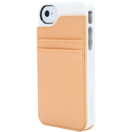 Boostcase BCHWLT-156 Hybrid Wallet / Snap-On Case (Peach)