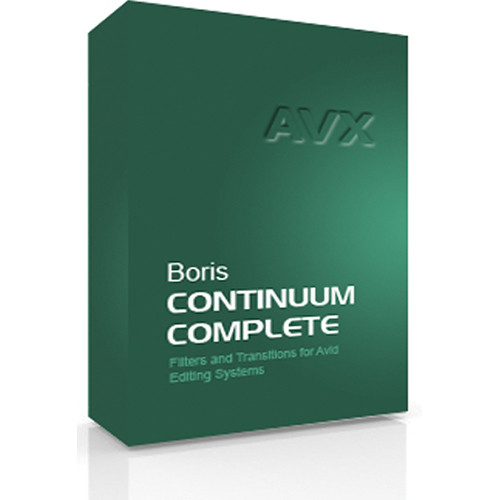Boris FX Continuum Complete 8 AVX Academic Edition for Windows