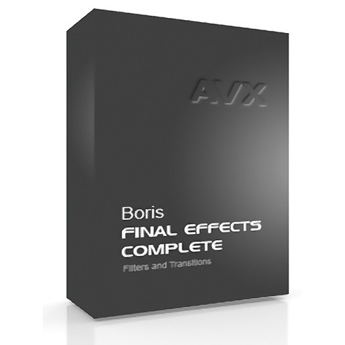 Boris FX Final Effects Complete 6 AVX Academic Edition for Windows