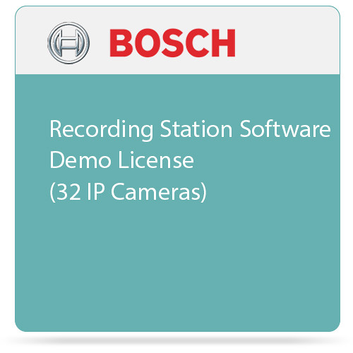 Bosch Recording Station Software Demo License (32 IP Cameras)