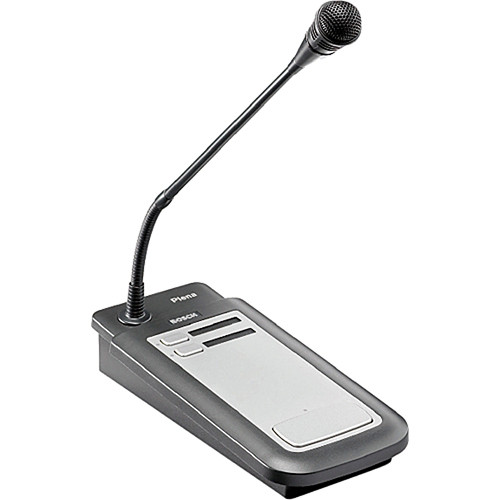 Bosch PLE-2CS 2-Zone Call Station Plena Tabletop Paging Microphone