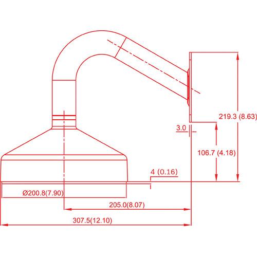 Bosch VDA-832FHD-WMT Wall Mount Bracket