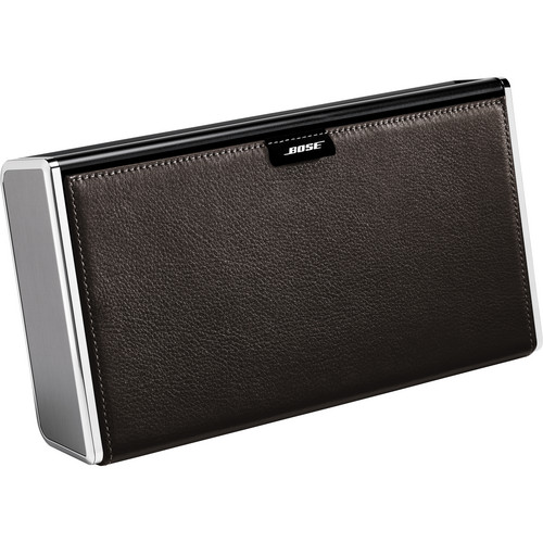 Bose SoundLink Wireless Mobile Speaker (Silver Finish & Dark Brown Leather Cover)