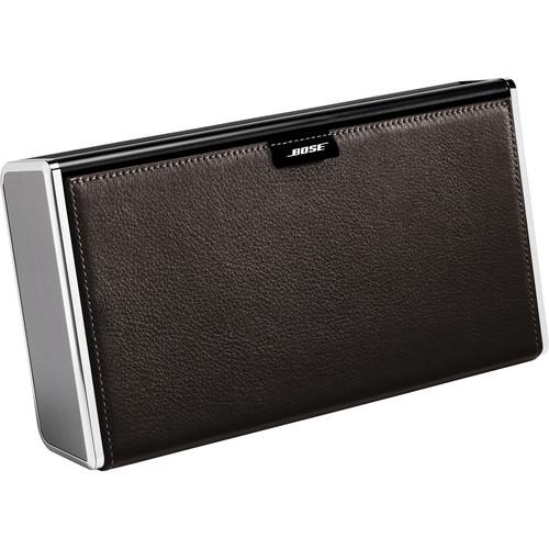 Bose SoundLink Wireless Mobile Speaker (Silver Finish & Dark Brown Leather Cover)