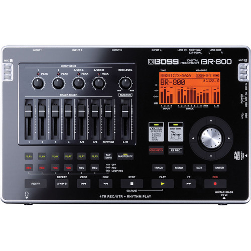 BOSS BR-800 8-Track Portable Digital Audio Recorder