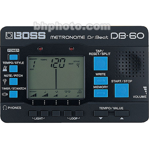 BOSS DB-60 - Dr. Beat Metronome with Pattern Memory and Tuning