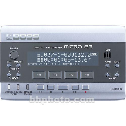 BOSS Micro BR Portable 4-Track Digital Recorder