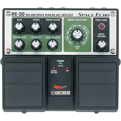 BOSS RE-20 - Space Echo Twin Guitar Pedal