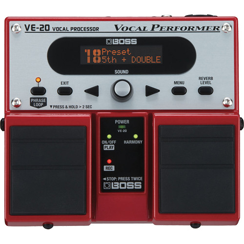 BOSS VE-20 Vocal Performer - Effects Pedal for Vocalists
