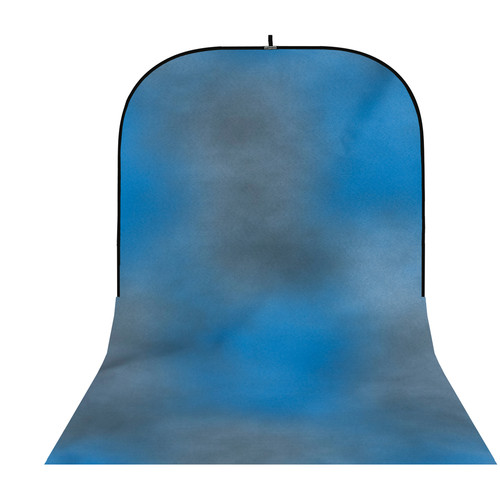 Botero #004 Super Collapsible Background (8x16', Blue, Gray)