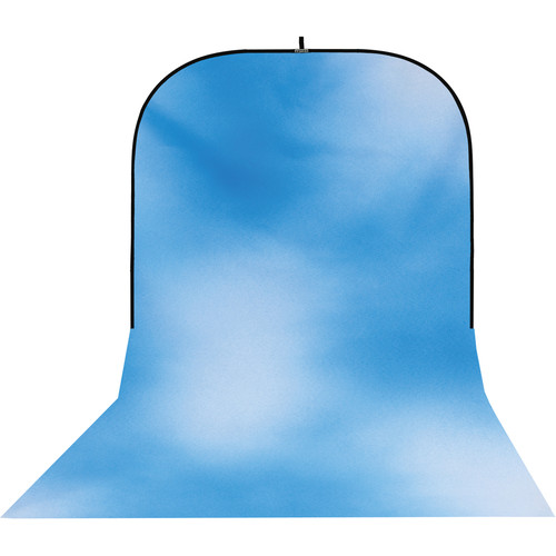 Botero #008 Super Collapsible Background (8x16', Sky Blue, White)