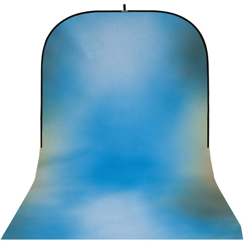 Botero #015 Super Collapsible Background (8x16', Maroon, White, Blue, Gray)